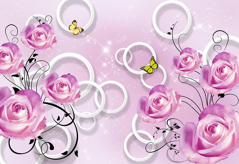 3Д розы