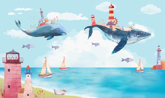 Акварельные киты