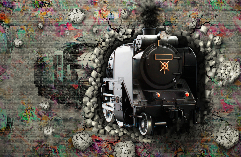 Поезд в стене
