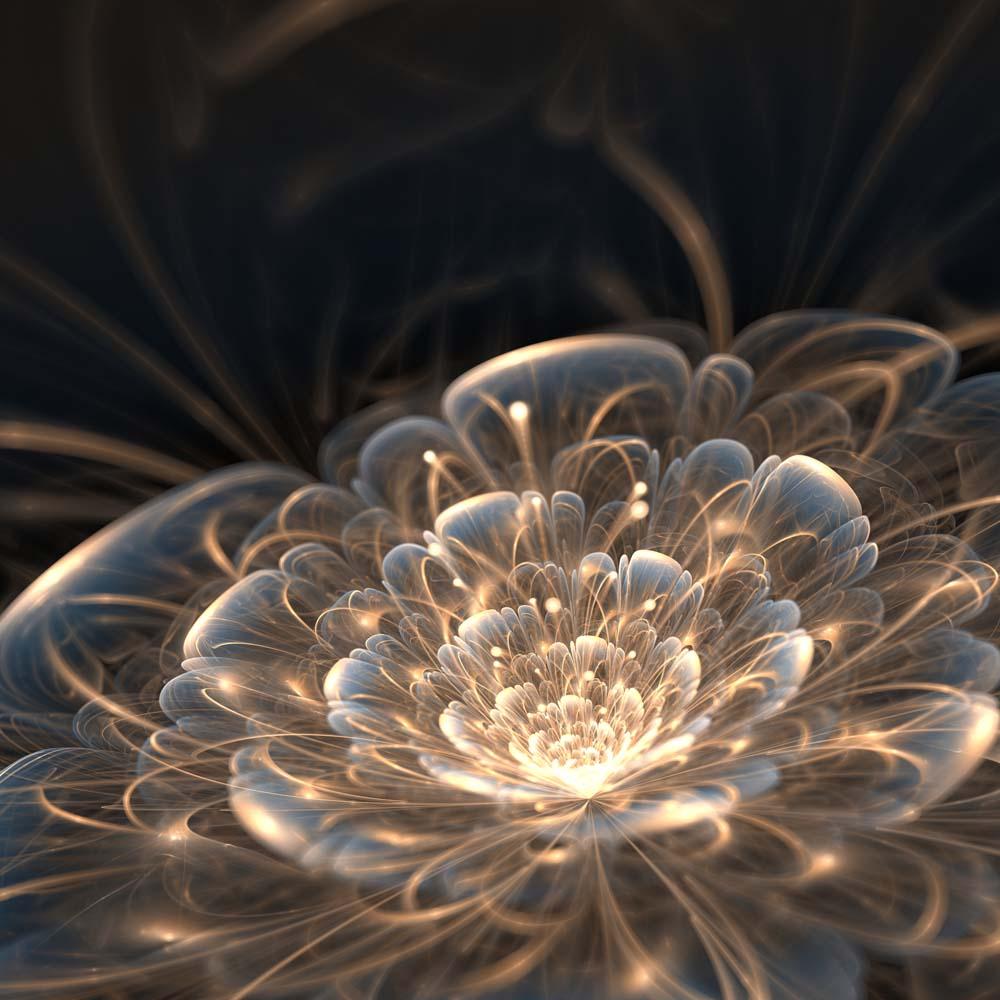 ЗD цветок