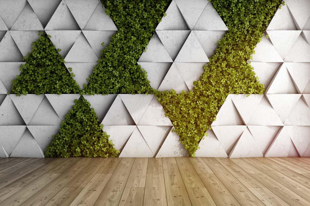 Стена и зелень