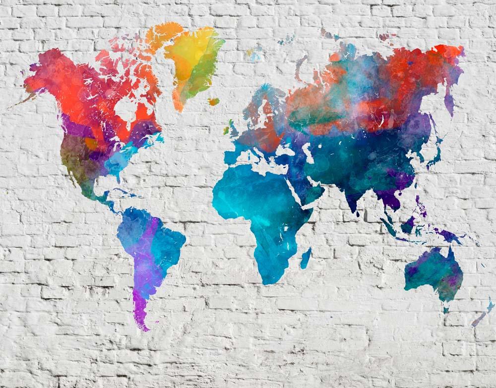 Карта из красок