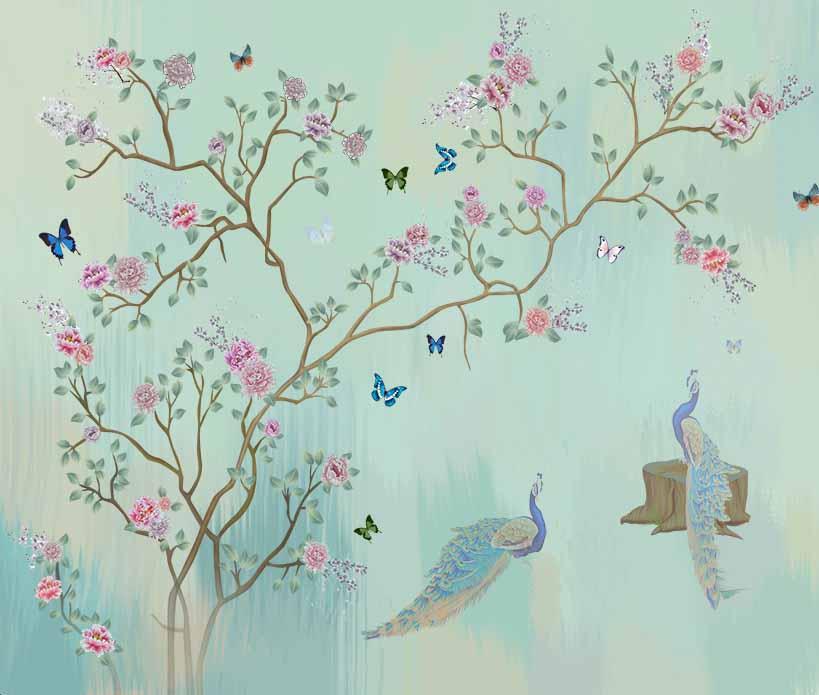 Дерево и птицы