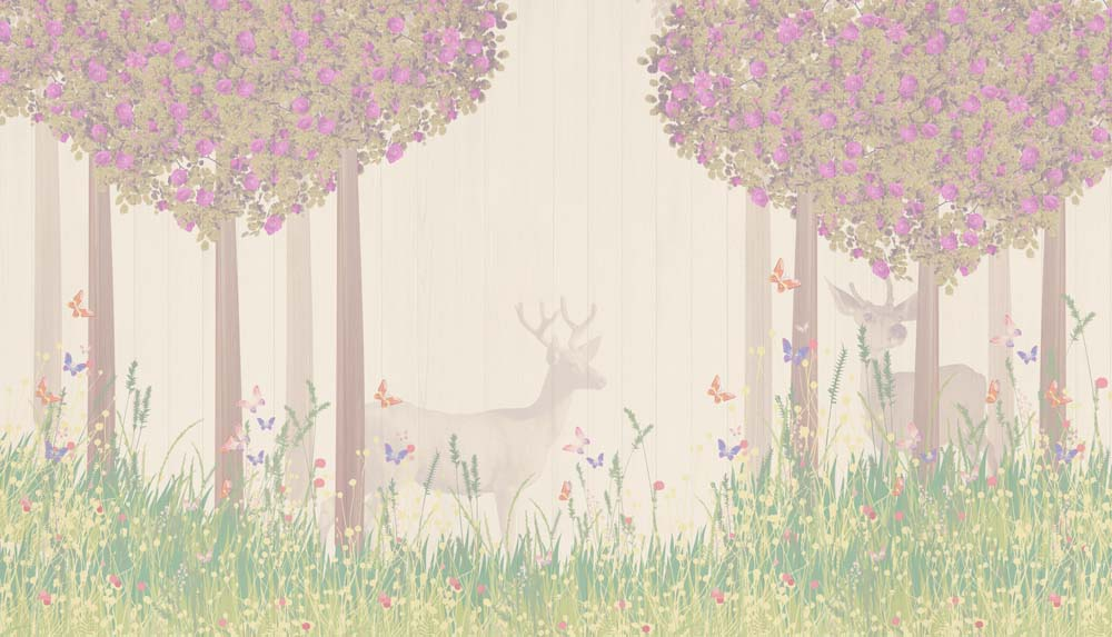 Сказочный лес олени