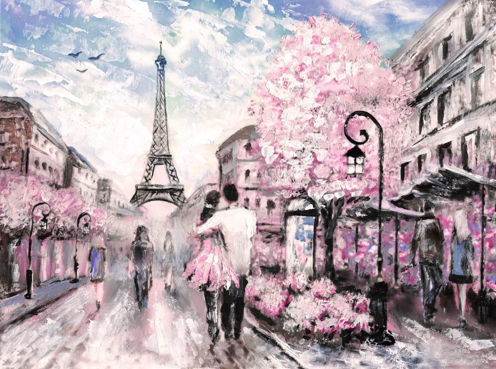 Париж в розовом цвете