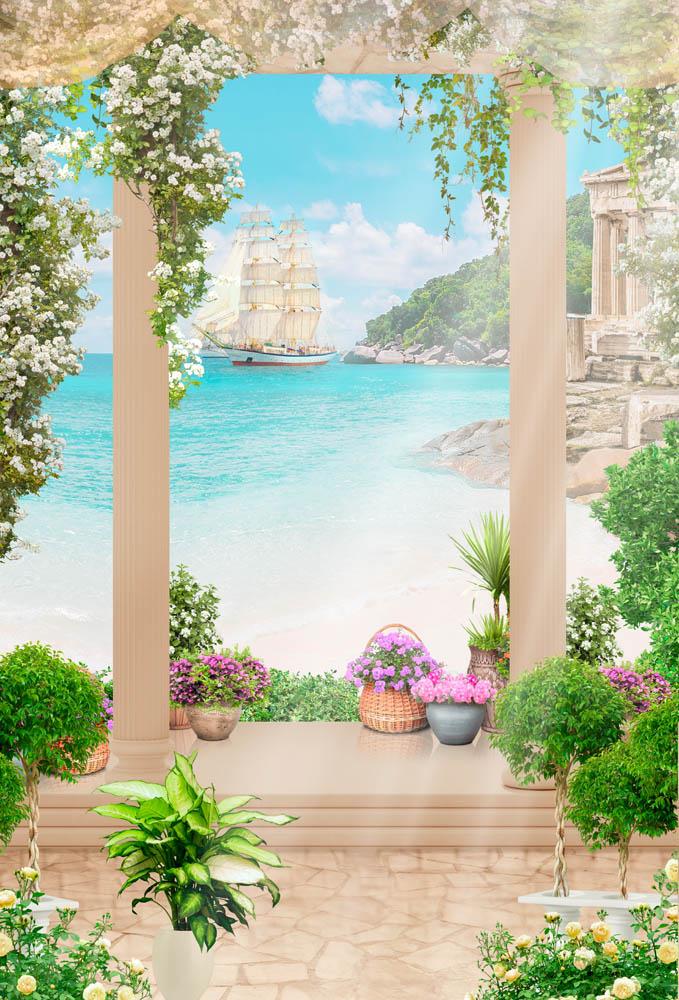 Террас с видом на море