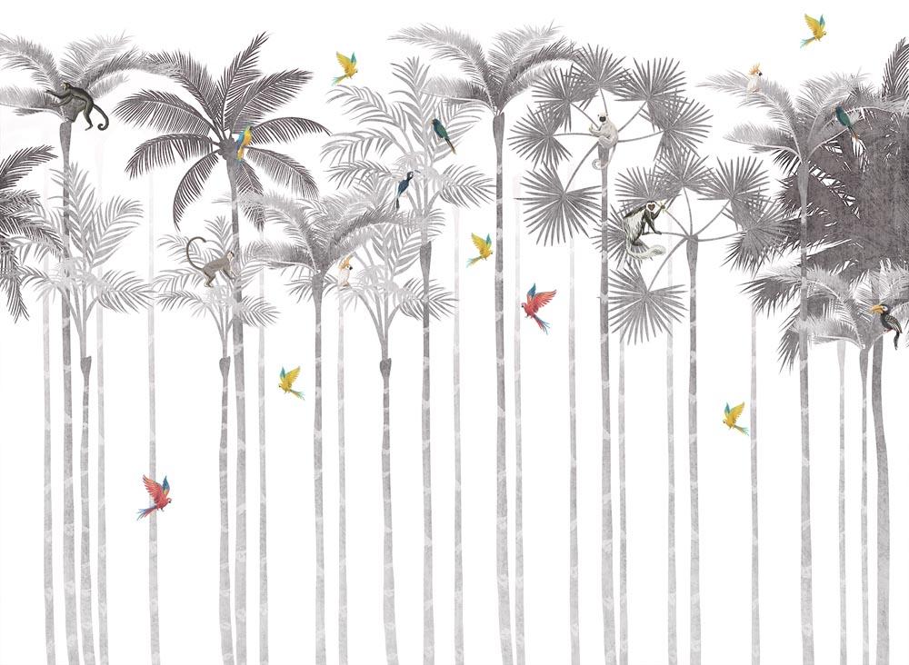 Пальмы и птицы