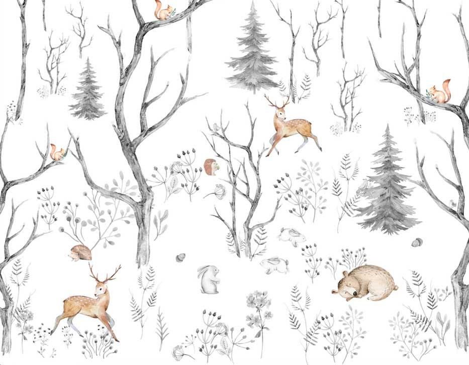 Лес с животными