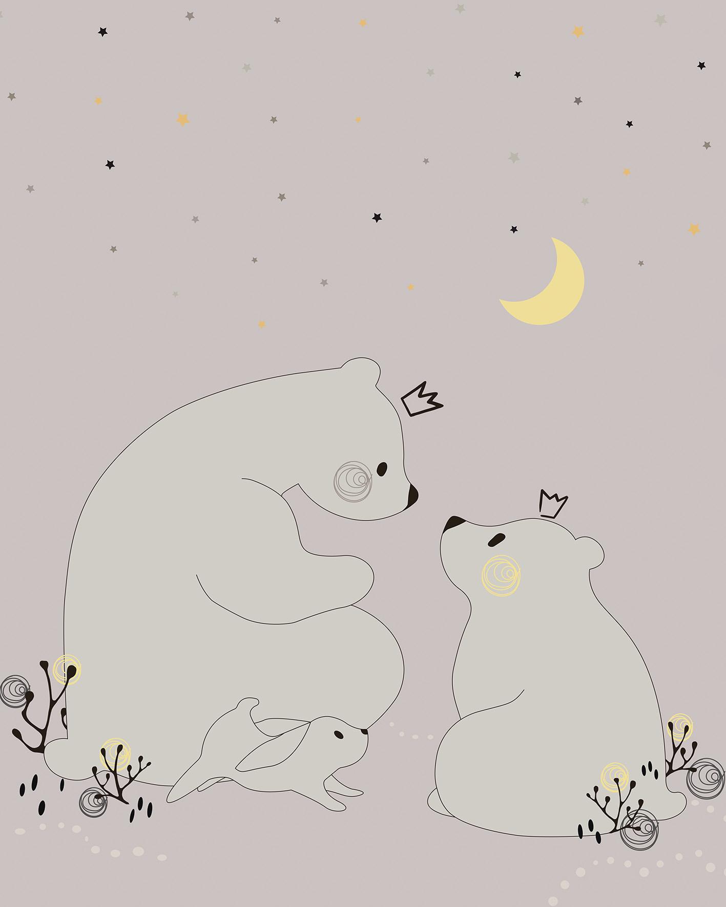 Медведица со своим малышом