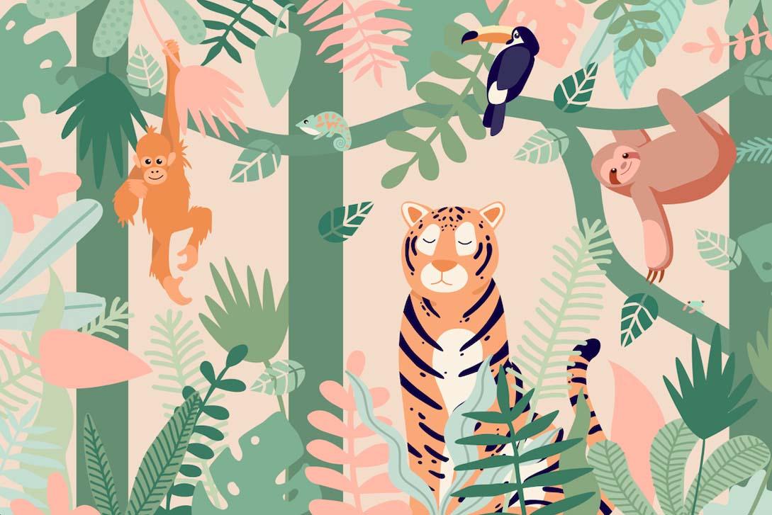 Яркие джунгли