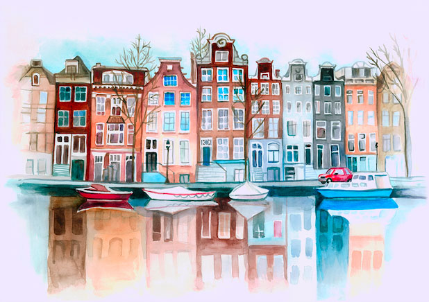 Город красками