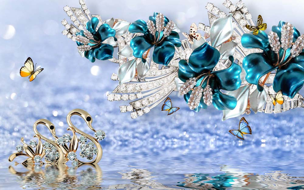 Цветы и кристаллы