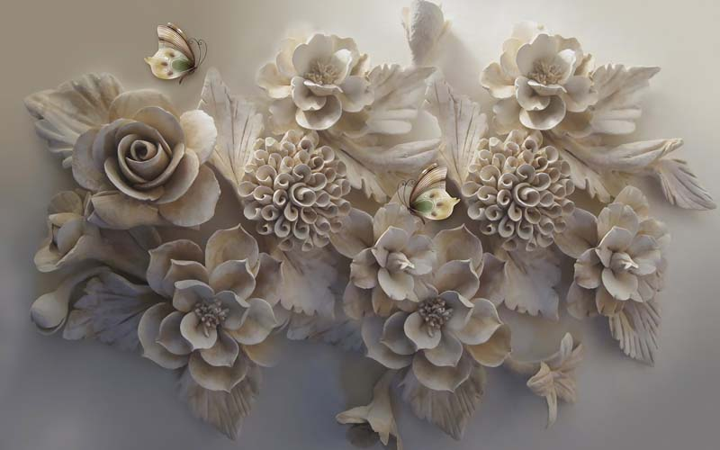 Розы барельеф