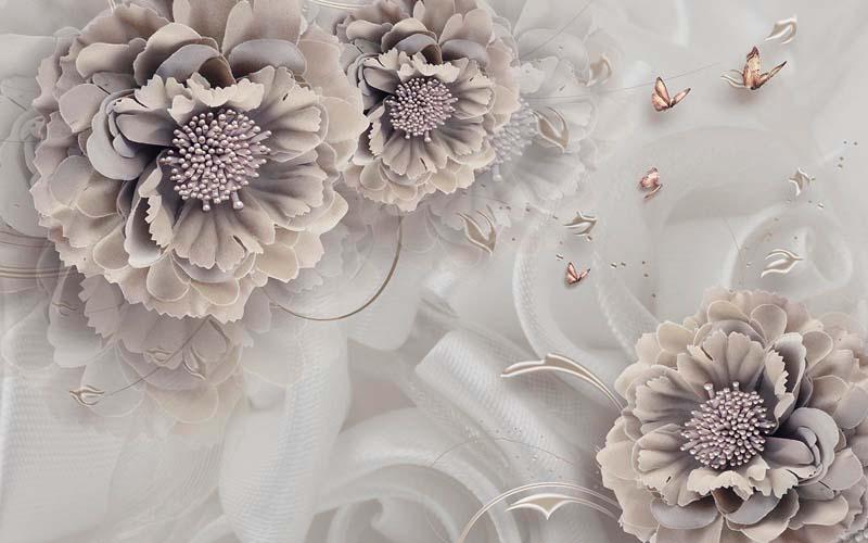 Цветы на шелке