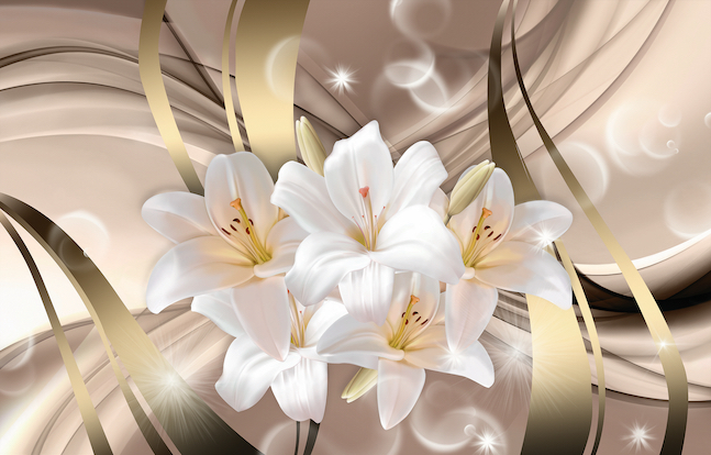 Абстракция с лилиями