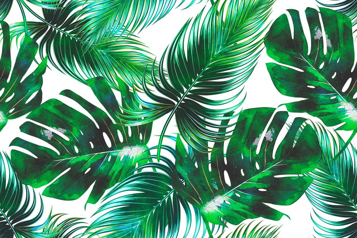 Паттерн с зелеными листьями