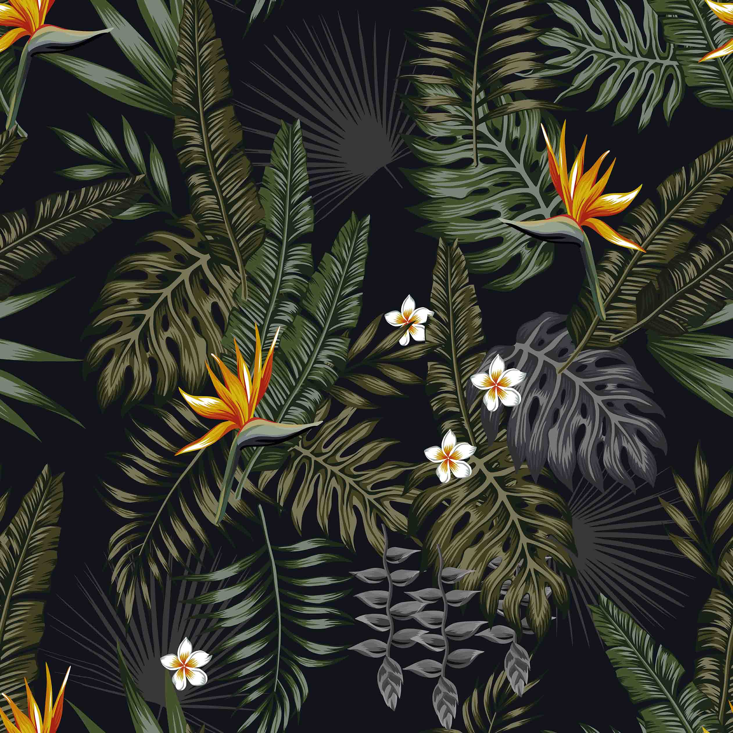 Стрелиция в пальмовых листьях