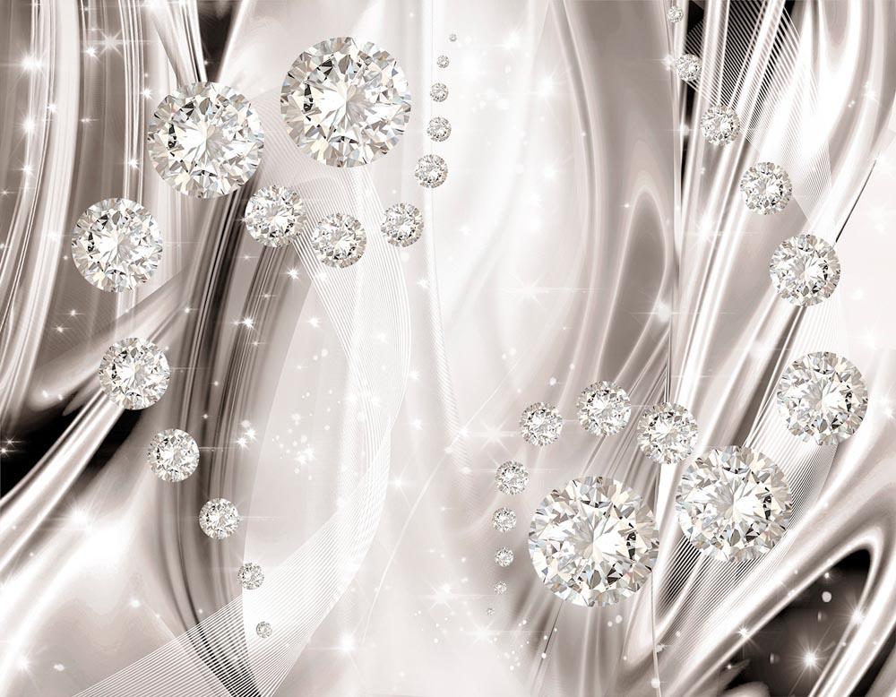 3Д абстракция с бриллиантами