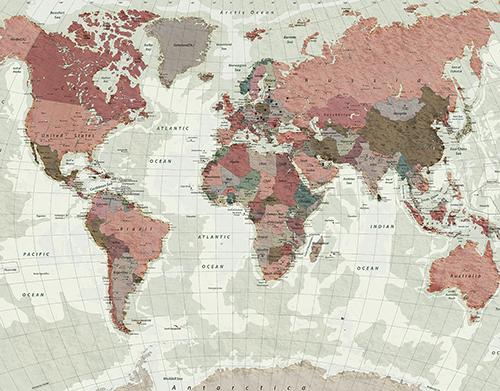 Карта мира с рельефом