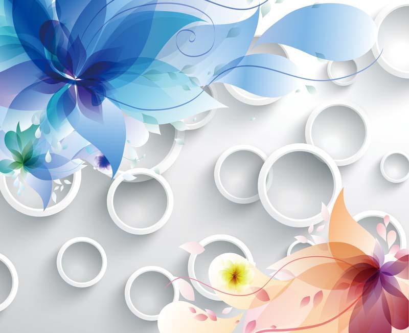 Абстракция цветы