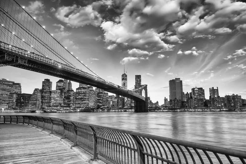 Бруклинский мост ЧБ