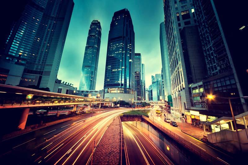 Вечерний мегаполис