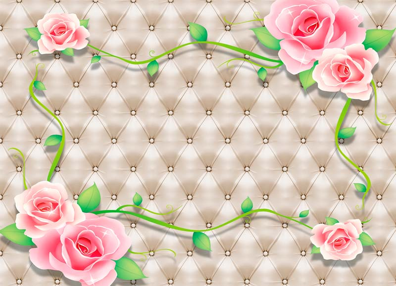 Розы на ткани