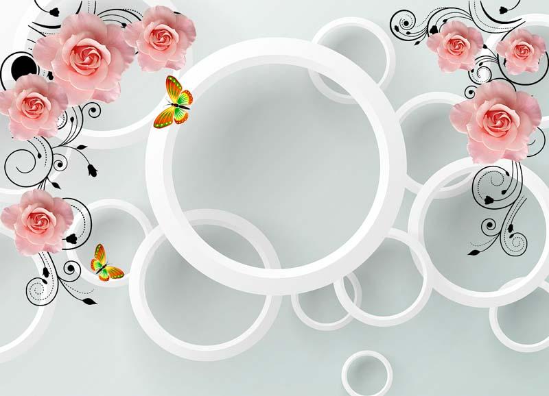 Розы с кругами