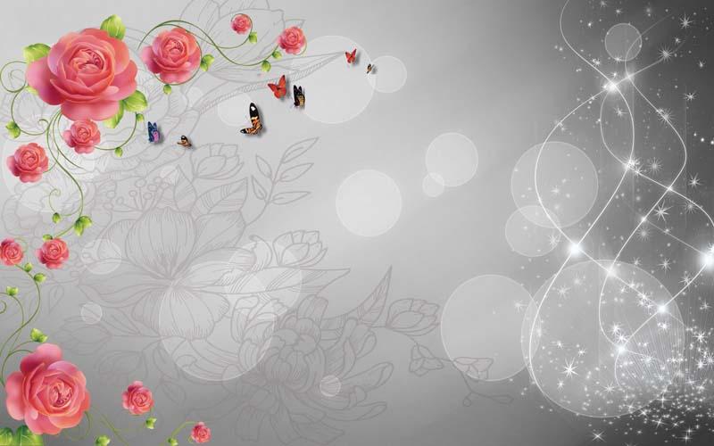 Абстракция с розами