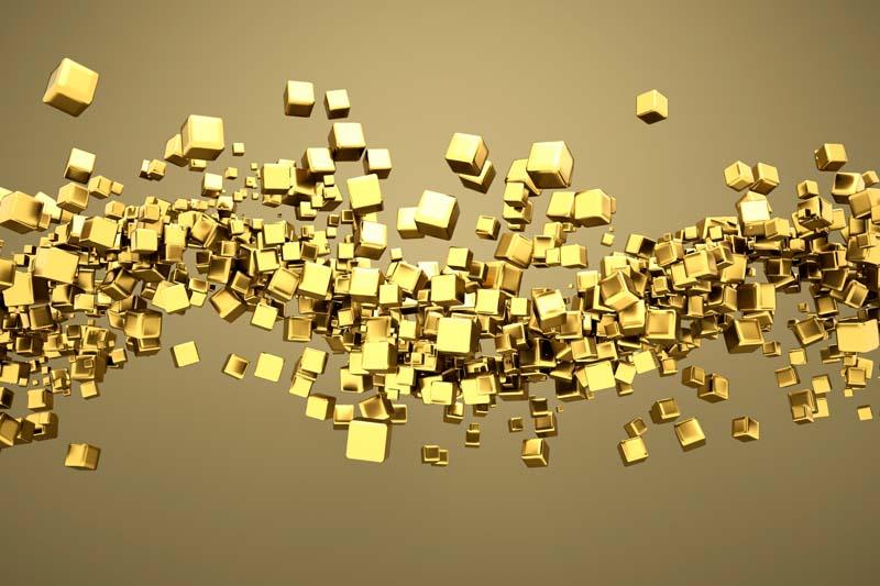 Золотые кубы