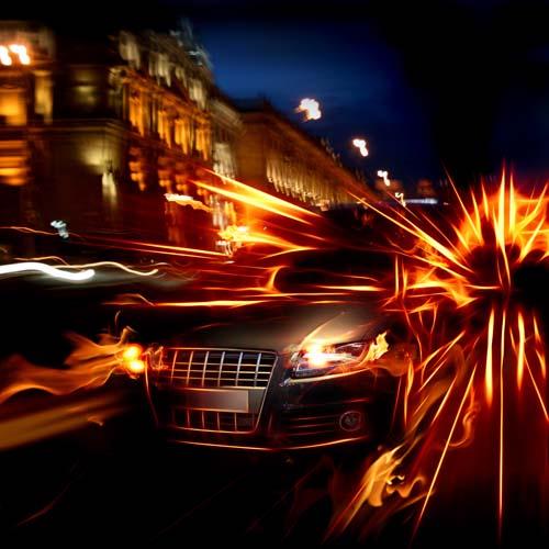Машина в движении