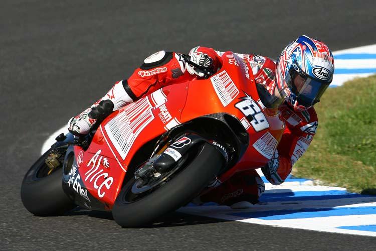 Мотоциклист в гонке