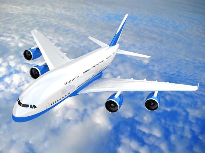Самолет небе