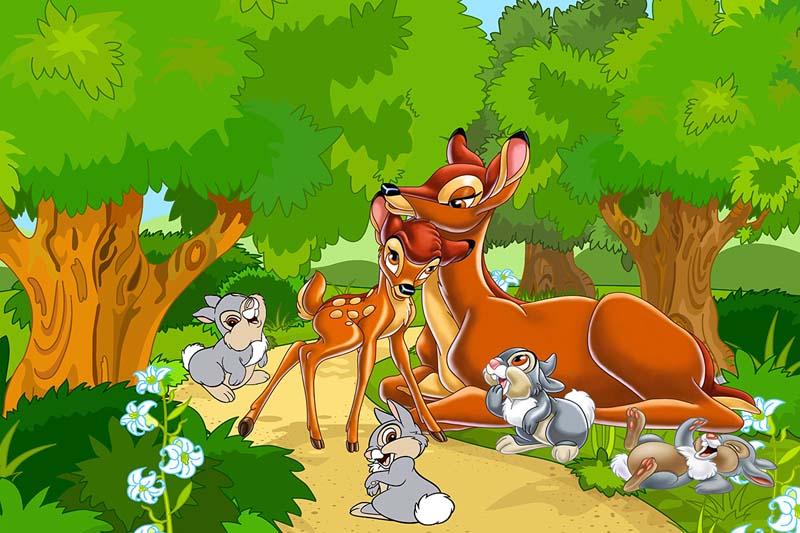 Бемби в лесу