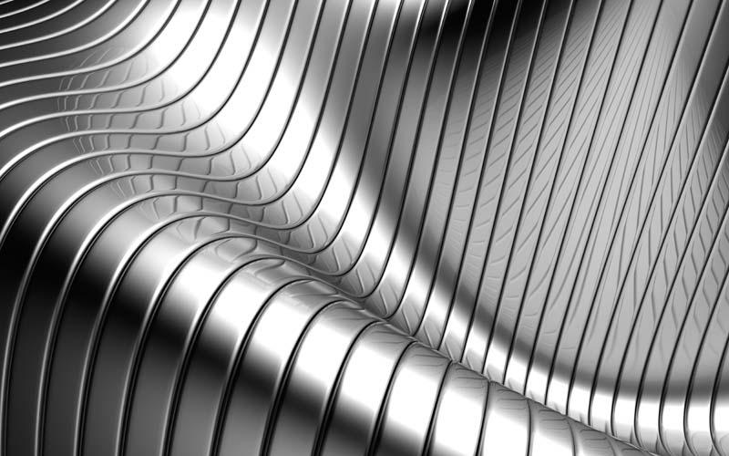 3D металлические линии