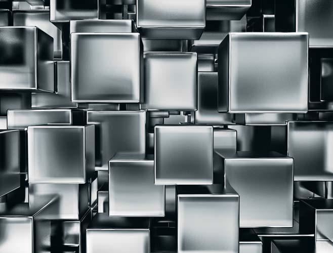 Металлические кубы