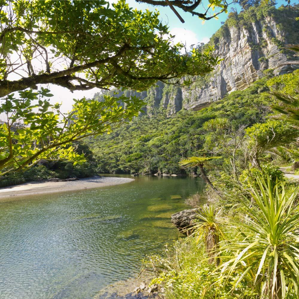 Река с видом на горы