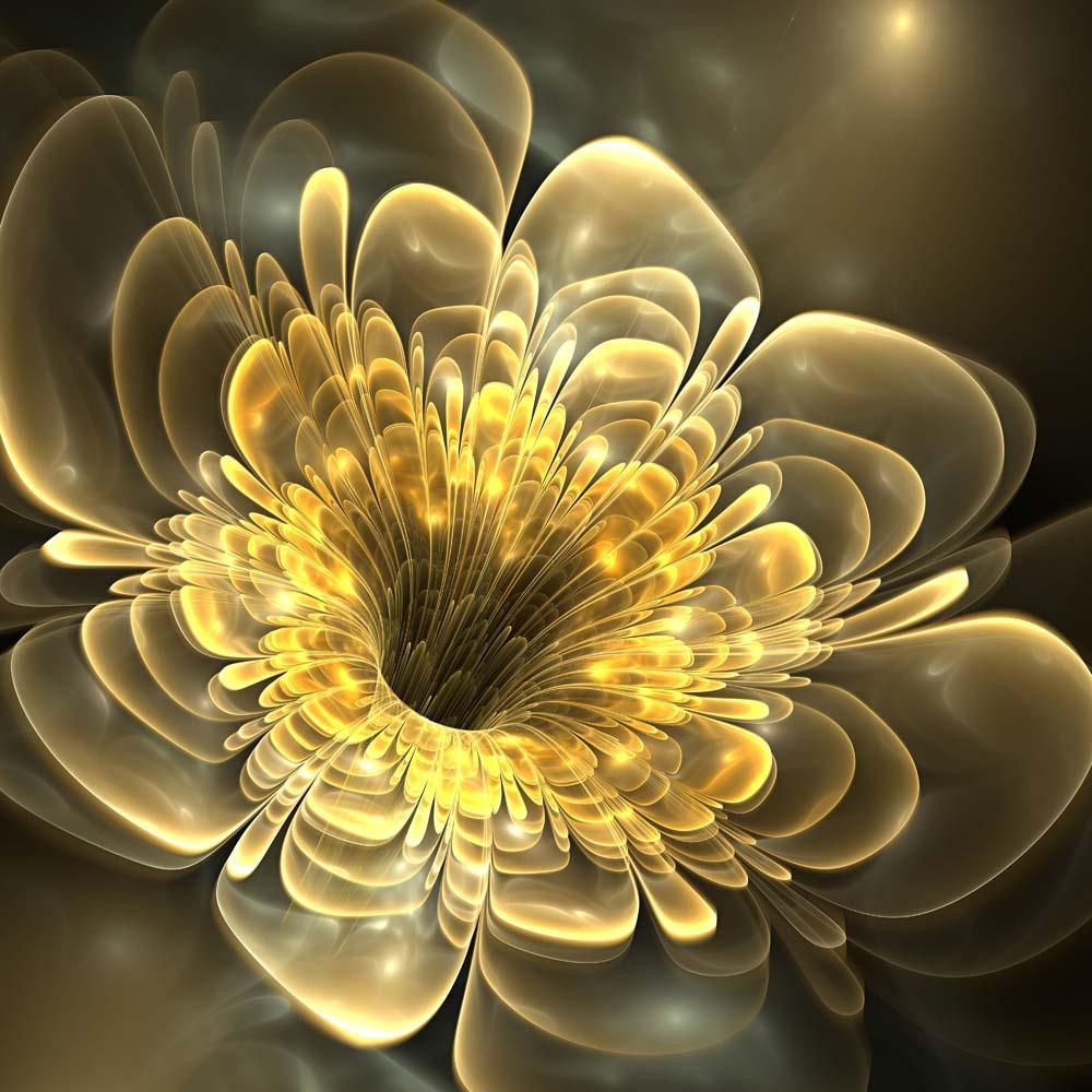 3D цветок