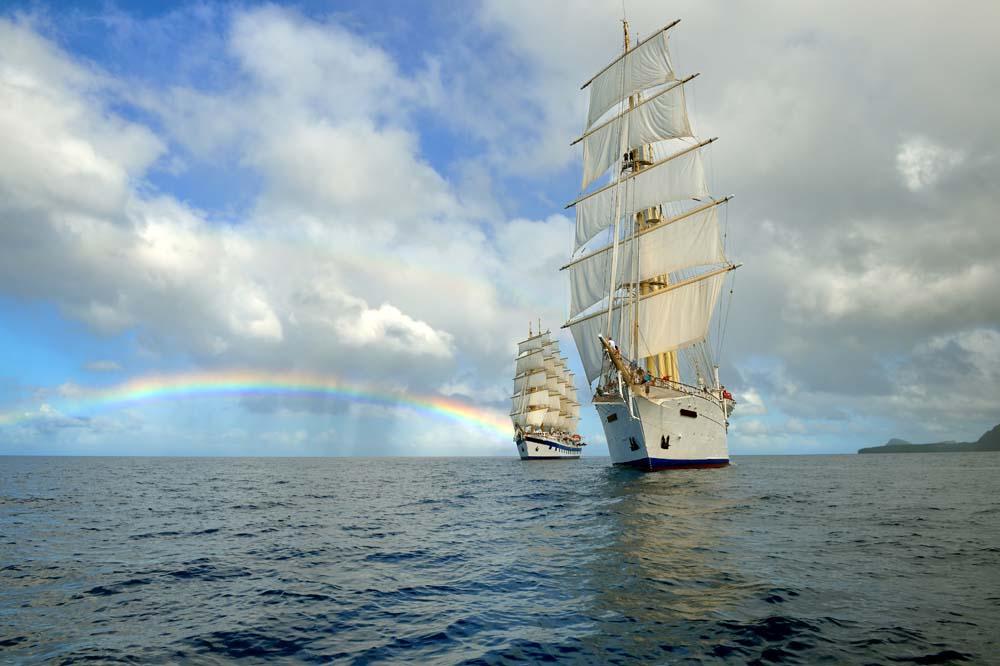 Два корабля и радуга