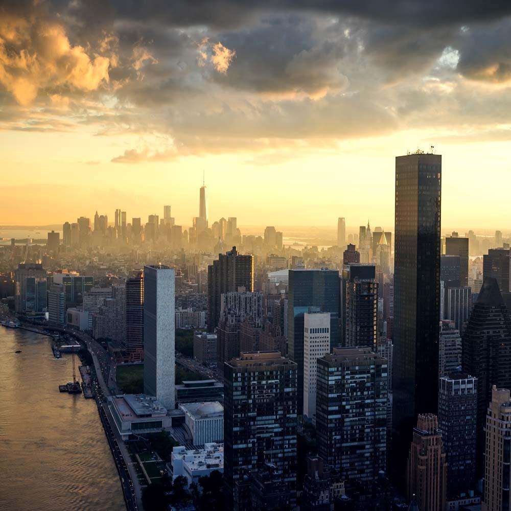 Вид из окна  Нью Йорк