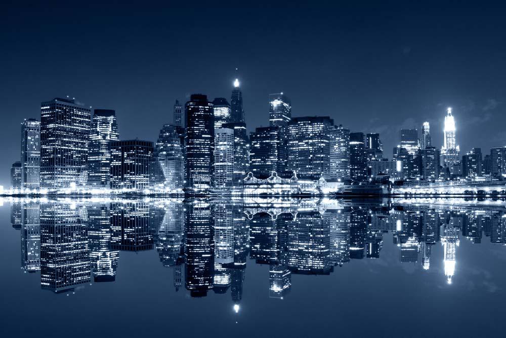Нью Йорк ночью