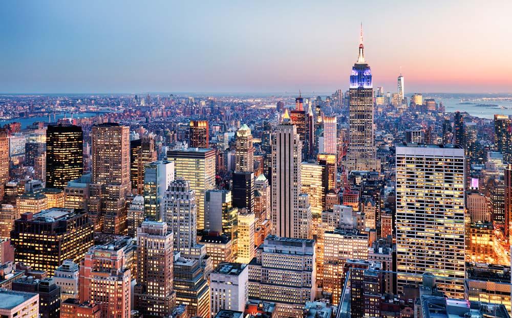 Пейзаж Нью-Йорка