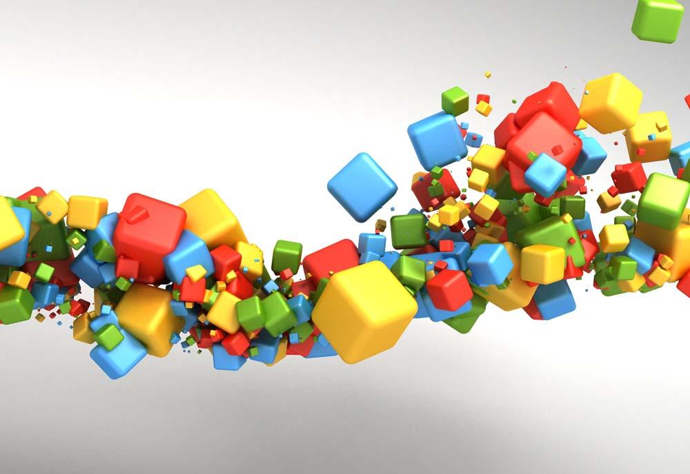Цветные кубы