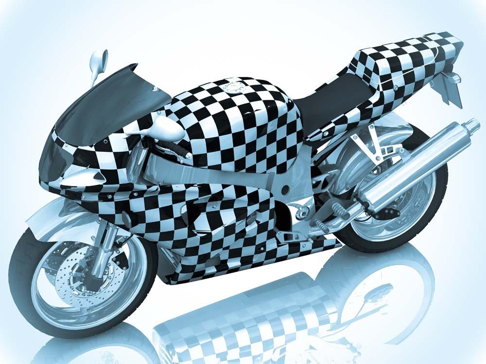Мотоцикл в квадратиках