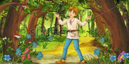 Мальчик в лесу