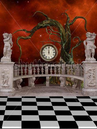 Часы на балконе