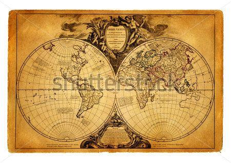 Карта мира 1708 год