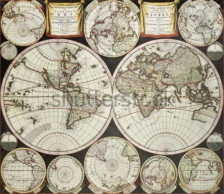 Карта двойного полушария
