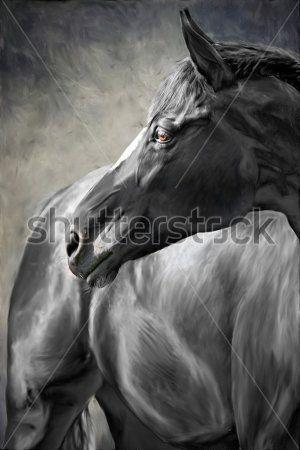 Лошади в стиле лофт