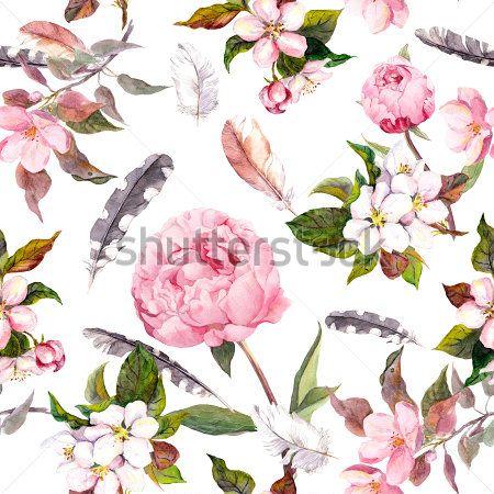Цветы перья